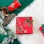 AM好時光【R53】紅綠聖誕節金蔥雙面緞帶 16...