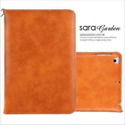 【D0220063】iPad 2 3 4 5 6 Air mini韓風掛繩皮革站立摺疊收納支架休眠皮套保護套(淺咖)