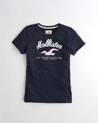 Hollister Crewneck Graphic Tee 圓領刺繡短袖T恤 (XS) by A&F