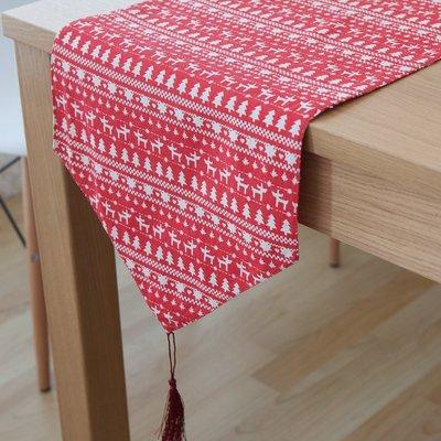 【可可里】美式鄉村灰綠色復古布藝餐墊桌旗茶幾旗盤桌墊定做尺寸