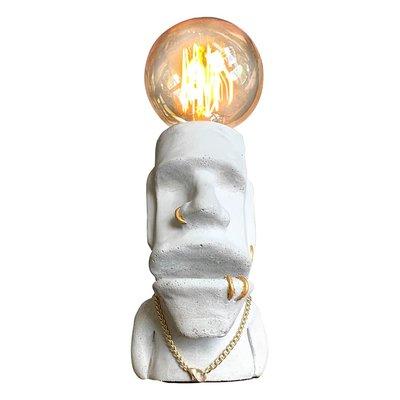 【曙muse】嘻哈摩艾桌燈 (可放名片) 水泥質感桌燈 造型檯燈 Loft 工業風 咖啡廳 民宿 餐廳 居家擺設