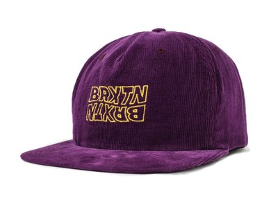 Brixton - VITUS SNAPBACK 棒球帽 燈芯絨 葡萄色 現貨販售【 LOYALTY 】