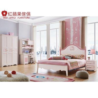 [紅蘋果傢俱]LOD-S8320 4尺床(另售床頭櫃 書桌椅 三門衣櫃) 實木床 兒童床 臥室組