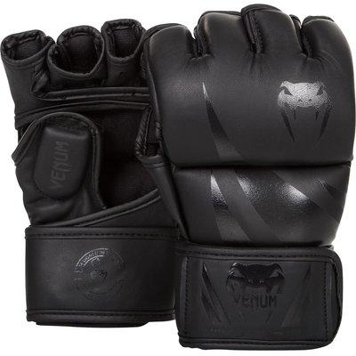 [古川小夫]UFC VENUM搏擊MMA挑戰者號∼康貝入門初級手套∼健身房 露指拳套-黑 S size