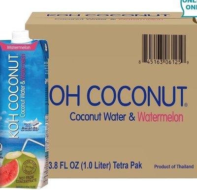 (839元)好市多costco線上代購Koh 西瓜椰子水 1公升 X 12入