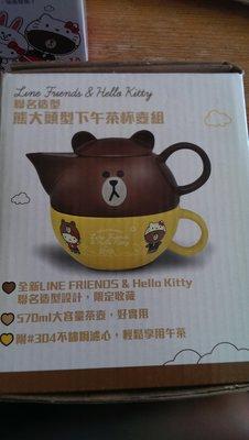 7-11 LINE FRIEND & Hello Kitty 熊大 下午茶杯壺組 全新現貨 台北市