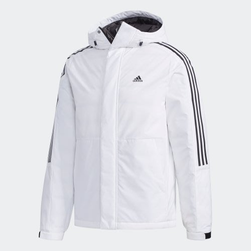 =E.P=ADIDAS 3-STRIPES DOWN JACKET 白色 羽絨外套 男款 EH3994