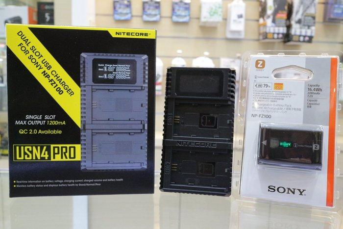 【日產旗艦】Nitecore 公司貨 SONY FZ100 原廠電池 + USB充電器 A7III A7RIII A9