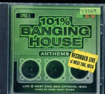 *還有唱片行* 101% BANGING HOUSE ANTHEMS DISC 1 二手 Y3369