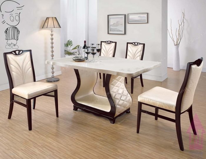 【X+Y時尚精品傢俱】現代餐桌椅系列-凱撒 5尺石面餐桌不含皮面餐椅.PU仿真皮.摩登家具