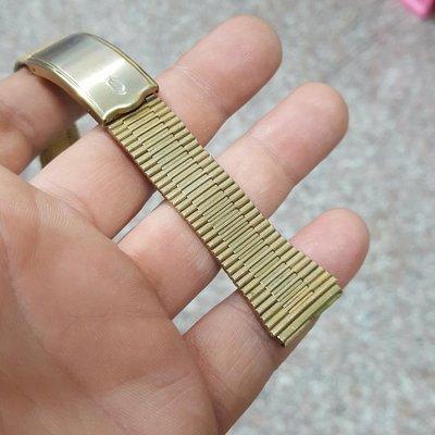 早期 18mm 細目金 錶帶 非 Rolex SEIKO ETA OMEGA IWC TITONI TELUX ORIENT 機械錶 潛水錶 水鬼錶 D01