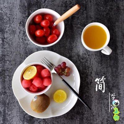 簡約生活純白陶瓷梅花碗餐桌美食器飯碗素雅歐式餐具高溫陶瓷飯碗