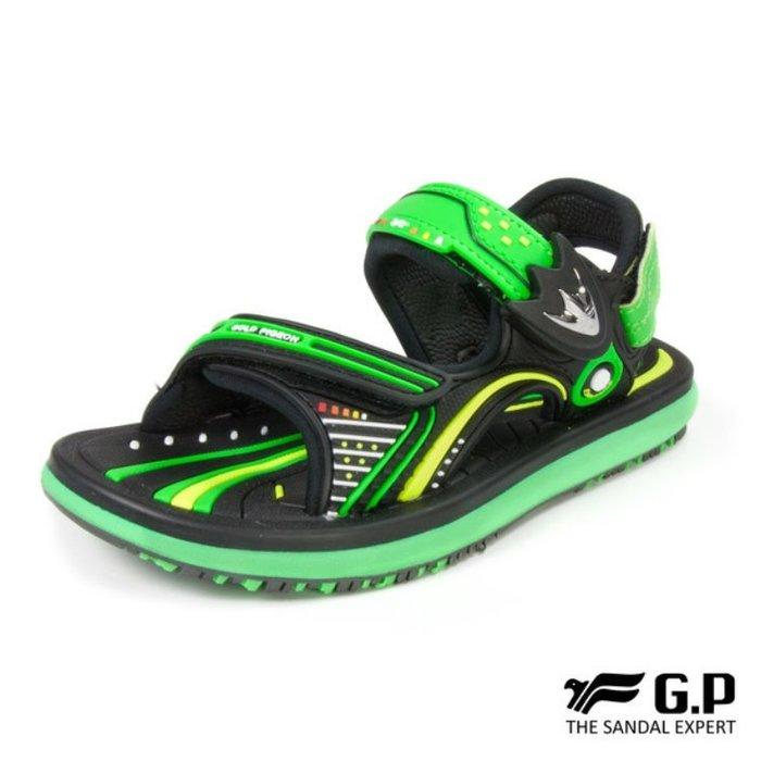 鞋鞋樂園-超取免運-GP-吉比-阿亮代言-兒童簡約休閒涼鞋-兩用鞋-磁扣設計-穿脫方便-GP涼鞋-G8669B-60
