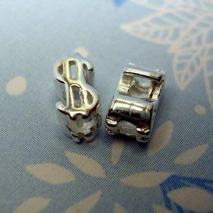 琥珀貓~【925純銀材料配件】造型珠~A0071~$~一個