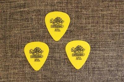 【老羊樂器店】Dunlop TOREX pick 小烏龜 黃 吉他彈片匹克 0.73mm