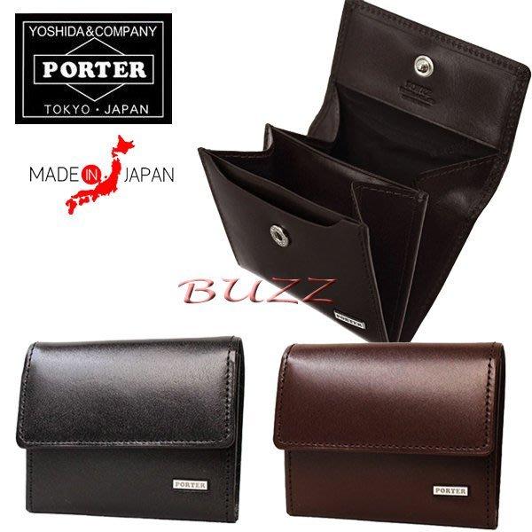 巴斯 日標PORTER屋- 二色預購 PORTER SHEEN 牛革皮夾-零錢包 110-02922