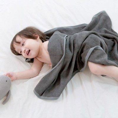 ❅PAVEE❅ 韓國conitale~ Bamboo Bath Towel 嬰幼兒竹纖維柔軟吸水浴巾大毛巾包巾~炭灰