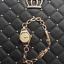 古董表女CYMA司馬表9k實金9K表鏈原裝盒全套收藏瑞士金表