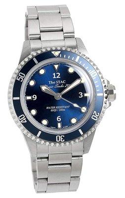 日本正版 The STAC Classic Scuba 200 st-cs001 藍色 手錶 日本製 日本代購