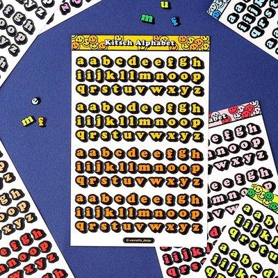 ❅PAVEE❅韓國wannathis~ Kitsch Alphabet 咕卡手帳手機 3D立體字型裝飾貼紙~小寫字母