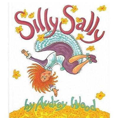 現貨@特賣@Silly Sally 倒著走的女孩 純英文英語繪本少幼兒童啟蒙益智早教圖畫書睡前故事媽媽寶寶親子閱讀 幼稚