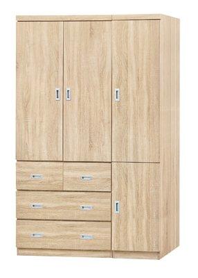 【南洋風休閒傢俱】精選時尚衣櫥 衣櫃 置物櫃 拉門櫃 造型櫃設計櫃-雪松4*7尺衣櫥 CY181-947