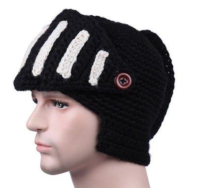 ~羅馬騎士帽~帽子 羅馬帽 保暖 防寒 毛線帽 頭盔 毛帽 針織帽 頭套 節日 尾牙 變裝 遊行 cosplay COS