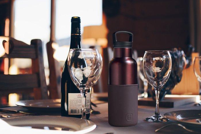 (限時2件88折免運) 美國HYDY不銹鋼保溫水瓶-櫻桃紅-勃根地紅瓶 480ml