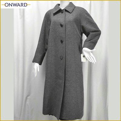 日系品牌 羊毛長大衣 ONWARD 新品 女 9号 羊毛呢長大衣外套 長外套 開司米 質感毛料外套 女M号 AF557J