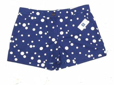 《Cupio》現貨 GAP Dots Khakis Summer shorts 俏麗點點圖騰卡其短褲(0)