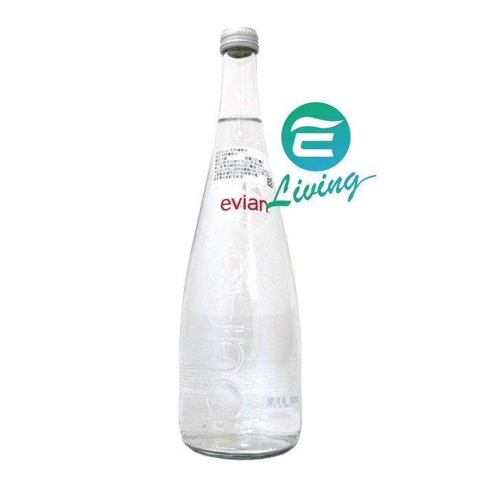 【易油網】EVIAN GLASS 法國天然礦泉水(750ml X 12瓶) #03372