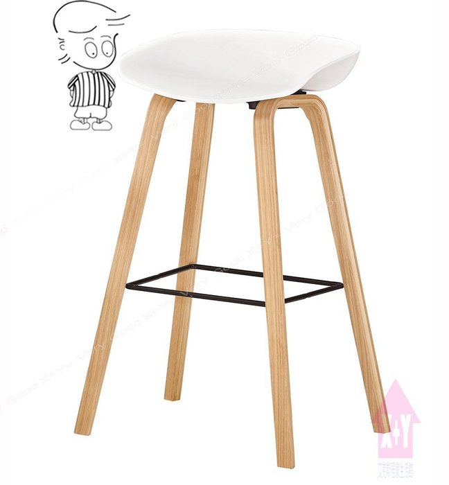 【X+Y時尚精品傢俱】現代吧檯椅系列-伊絲 吧椅(白)(實木).吧檯椅.吧台椅.高腳椅.摩登家具
