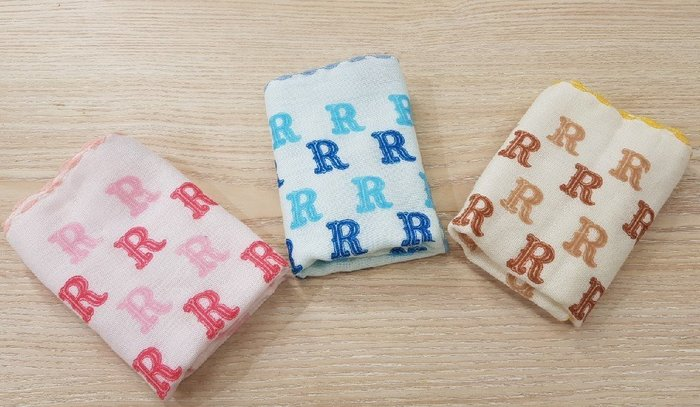 ☆°萊亞生活館 ° 615SF 紗布小手巾-R 手帕 小方巾 口水巾 100%棉 台灣製造