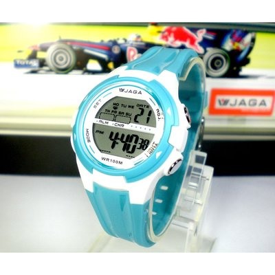 JAGA冷光電子錶 上班族 學生錶 流行電子錶 運動錶 生日禮物 百米防水 附保固卡 【↘420】M1140
