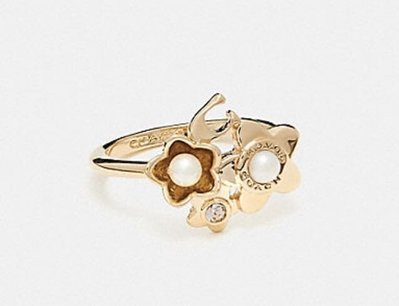 Coach BLOOMING FLORA CLUSTER RING