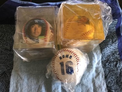 MLB 美國職棒 洛杉磯道奇隊 野茂英雄 紀念球 肖像球 LOGO球 三顆一起賣