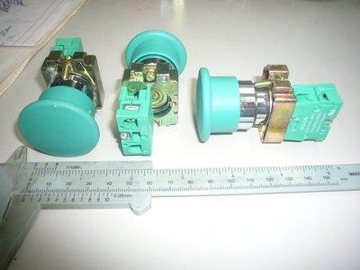 洋健SOLON 22Φ 大頭按鈕開關、大頭壓扣開關 綠 1A 金屬按鈕開關、金屬壓扣開關