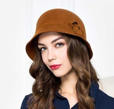 新款秋新品 來自時間的復古優雅 修飾臉型減齡毛氊帽禮帽
