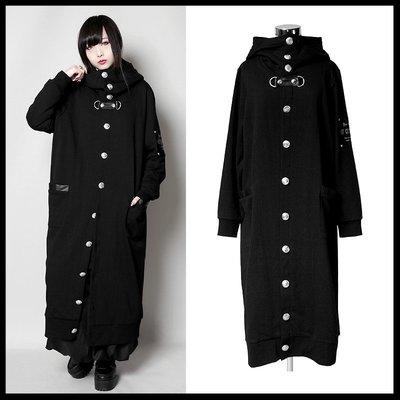*MINI PUNK LOLO*日本龐克視覺-魔雰囲気の闇教使徒單排釦雙口袋龐克長版外套(中性.sb05093)PUNK