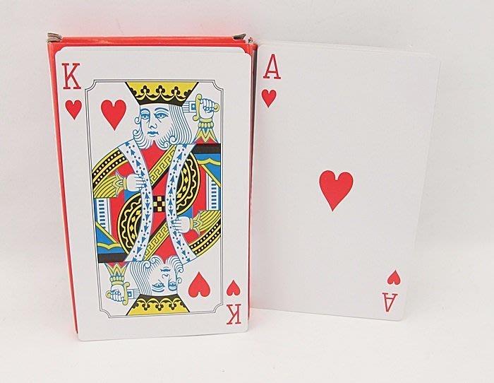 【阿LIN】173814 撲克牌 大撲克 加大 紙牌遊戲 桌遊 疊高 比賽 魔術 16.5cmx10cm