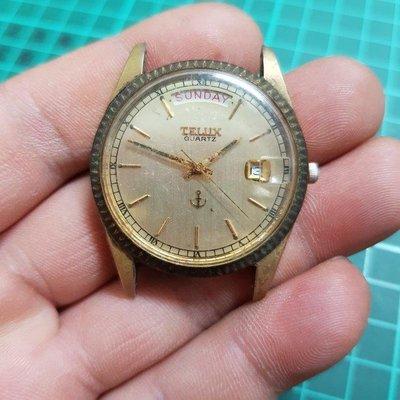 <行走中><開天窗>日本 TELUX 男錶 石英錶 老錶 ☆ E08 另有 飛行錶 水鬼錶 軍錶 機械錶 三眼錶 軍錶 潛水錶 男錶 女錶 中性錶