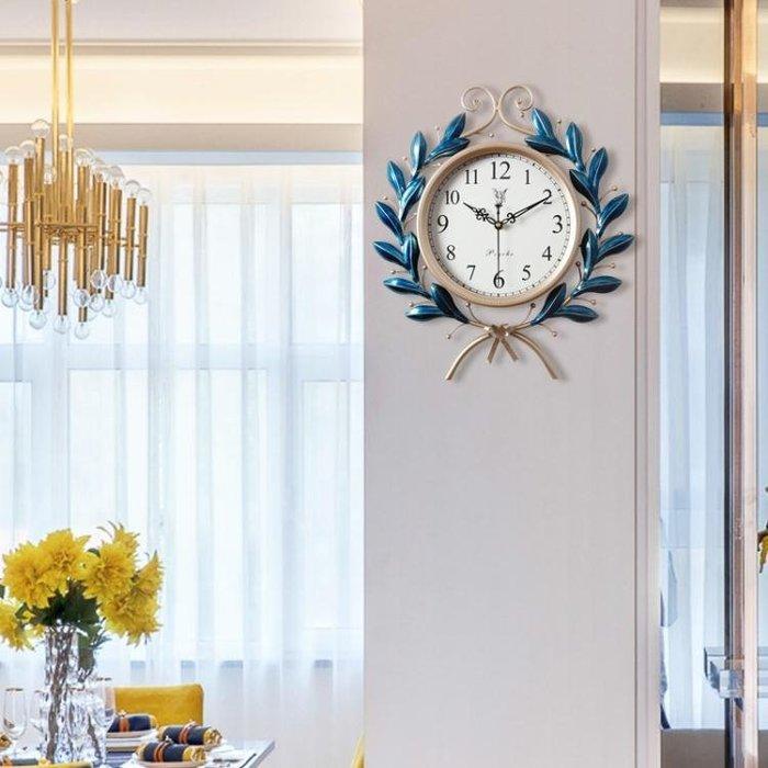 歐式鐘表時鐘掛鐘靜音客廳臥室家用北歐創意現代簡約大氣石英鐘WY