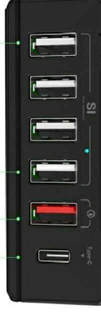 ☆偉斯科技☆6個PORT USB3.0快充盒支援QC30介面 買就贈送手機充電線集線器 高速傳輸3.0A  HUB