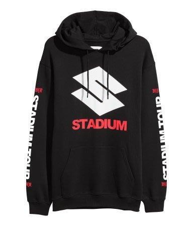 H&M  Justin Bieber 小賈 小賈斯汀 Stadium Tour 限量 聯名 長袖 大學T 帽T