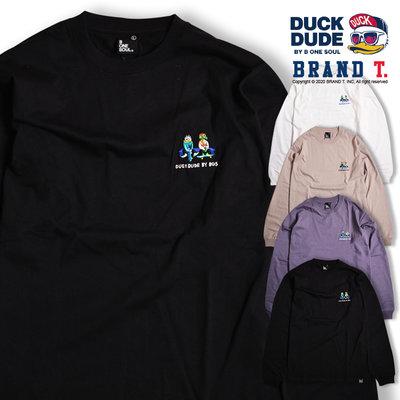 【Brand T】免運 達酷鴨 DUCK DUDE EMBED L/S TEE 刺繡 鴨子 鱷魚 長袖 薄長T 4色