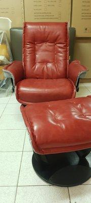 【鷹牌休閒椅特賣】全牛皮特價4折-亞瑪迪斯II-紅色.躺椅/休閒椅/沙發躺椅/主人椅/限量色特賣(非偏遠地區皆免運