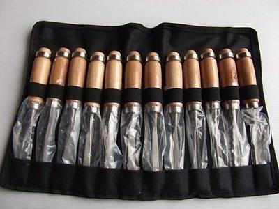 12PCS套裝 木工雕刻刀 高精鋼成品 12支一起賣附整合袋方便攜帶