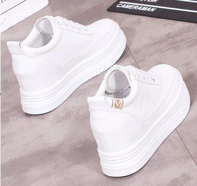 厚底小白鞋女內增高8CM秋季2018新款韓版休閒百搭街拍學生鞋白鞋