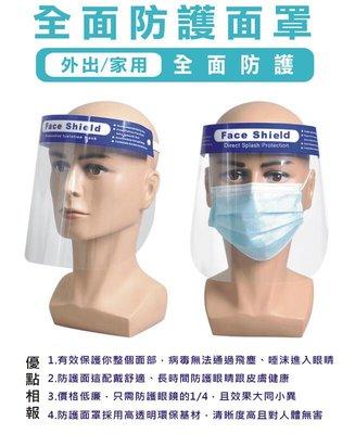 【台灣出貨】有CE認證 透明防疫面罩 口罩 防口沫全臉防護 防油濺面罩 臉部防護面罩 雙面防霧 防飛沫防護面罩