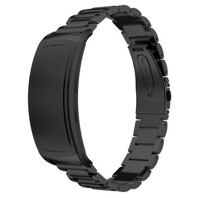 三星Samsunggearfit2SM-R360錶帶不銹鋼三珠錶帶fitpro手環腕帶智能手錶帶錶帶 佳明  硅膠 替換